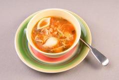 Cuenco de sopa del minestrone Fotografía de archivo