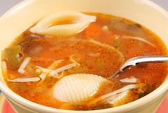 Cuenco de sopa del minestrone Fotografía de archivo libre de regalías