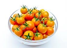 Cuenco de tomates de cereza Fotos de archivo