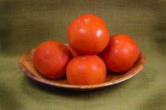 Cuenco de tomates frescos Imagenes de archivo