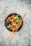 Cuenco del empuje del sushi imagenes de archivo