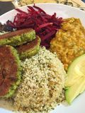 Cuenco del Falafel Fotos de archivo
