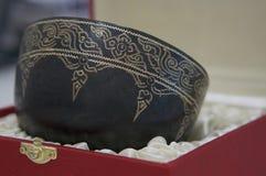 cuenco del Piedra-sistema hecho a mano en Tailandia imagen de archivo