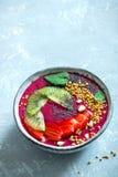 Cuenco del smoothie de Acai Imagen de archivo