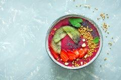 Cuenco del smoothie del desayuno Imagen de archivo libre de regalías