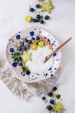 Cuenco del smoothie del yogur imagen de archivo libre de regalías
