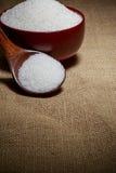 Cuenco lleno de azúcar-macro fotos de archivo