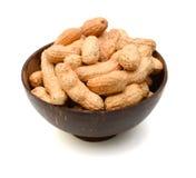 Cuenco salado del cacahuete Fotos de archivo libres de regalías