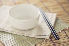 Cuenco vacío para la comida de Japón Foto de archivo
