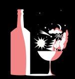 Cuenco y botella Imagen de archivo libre de regalías
