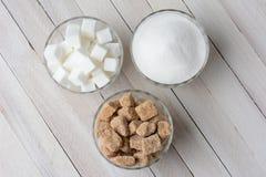 Cuencos de azúcar Imagen de archivo libre de regalías