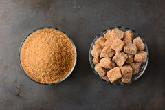 Cuencos de azúcar de Brown Fotografía de archivo libre de regalías