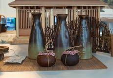Cuencos de cerámica orientales Imagen de archivo