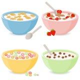 Cuencos de cereal de desayuno libre illustration