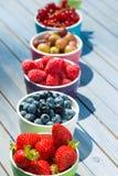 Cuencos de fruta coloridos Fotografía de archivo libre de regalías