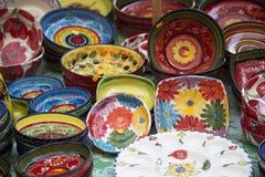 Cuencos de la porcelana en Valencia, España Imagen de archivo libre de regalías
