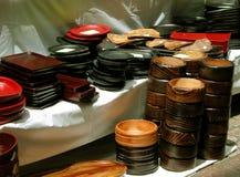 Cuencos de madera Fotos de archivo libres de regalías