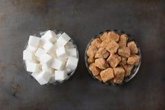 Cuencos de Sugar Cubes Imágenes de archivo libres de regalías
