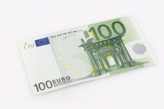 Cuenta de 100 euros Imagen de archivo libre de regalías
