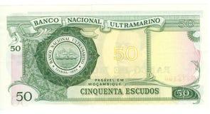 cuenta de 50 escudos de Mozambique   Fotografía de archivo libre de regalías