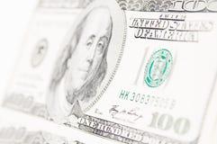 cuenta de dólar 100 Imágenes de archivo libres de regalías