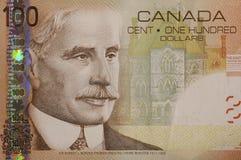Cuenta de dólar del canadiense 100 Foto de archivo libre de regalías