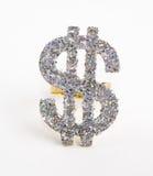 Cuenta de dólar tachonada diamante Foto de archivo libre de regalías