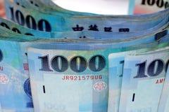 Cuenta 1000 de dólares de Taiwán Foto de archivo libre de regalías