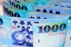 Cuenta 1000 de dólares de Taiwán Imagen de archivo libre de regalías