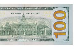 cuenta de dólar 100 Imagen de archivo