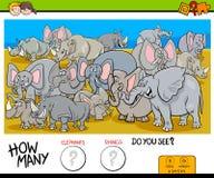 Cuenta de elefantes y del juego de los rinocerontes para los niños stock de ilustración