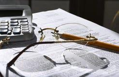 Cuenta de impuestos Imagenes de archivo
