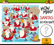 Cuenta de la actividad de Papá Noel Imagen de archivo libre de regalías