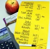 Cuenta de la caloría Imagen de archivo libre de regalías