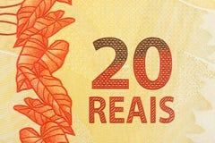 cuenta de 20 reais Imágenes de archivo libres de regalías