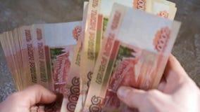 Cuenta de rublos almacen de metraje de vídeo
