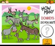 Cuenta de tarea con la historieta de los burros stock de ilustración