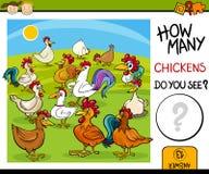 Cuenta de tarea con la historieta de los pollos stock de ilustración