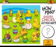 Cuenta de tarea con los polluelos de pascua stock de ilustración