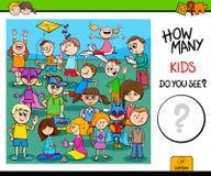 Cuenta de tarea educativa de los caracteres de los niños libre illustration