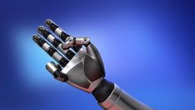Cuenta del brazo del robot almacen de metraje de vídeo