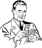 Cuenta del efectivo stock de ilustración
