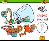 Cuenta del juego de la actividad educativa de los caramelos Imagen de archivo libre de regalías