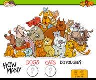 Cuenta del juego de la actividad de los gatos y de los perros libre illustration