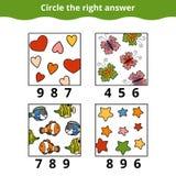 Cuenta del juego para los niños preescolares libre illustration