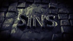 Cuenta del lazo del camino 4K de la piedra del adoquín de los pecados almacen de metraje de vídeo