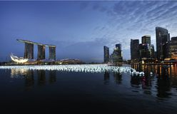 Cuenta descendiente 2010/2011 de Singapur Foto de archivo libre de regalías