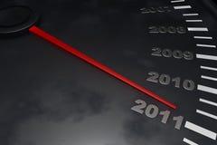 Cuenta descendiente al Año Nuevo 2011 Imágenes de archivo libres de regalías