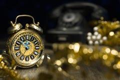 Cuenta descendiente 2015, composición del Año Nuevo del vintage Fotografía de archivo