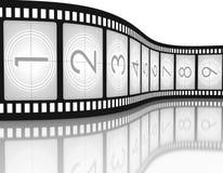 Cuenta descendiente de Filmstrip Imágenes de archivo libres de regalías